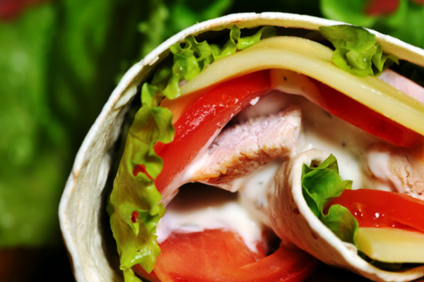 Chicken & Roasted Red Pepper Wrap